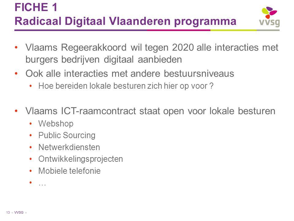 FICHE 1 Radicaal Digitaal Vlaanderen programma