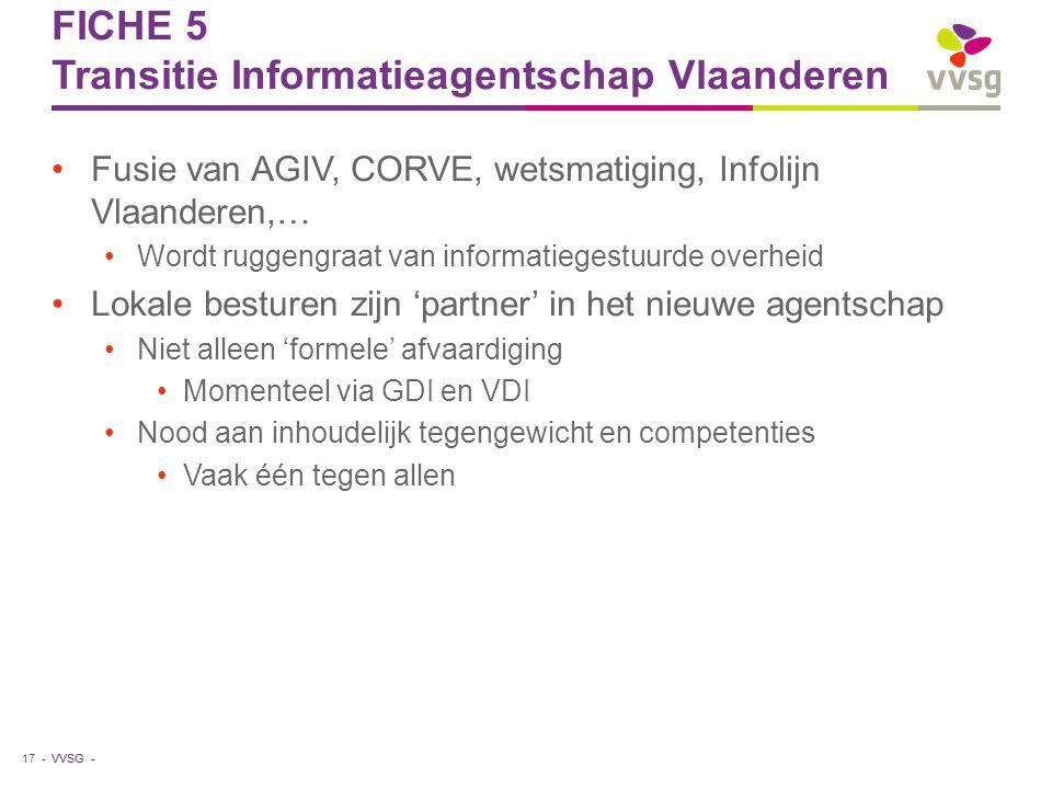 FICHE 5 Transitie Informatieagentschap Vlaanderen