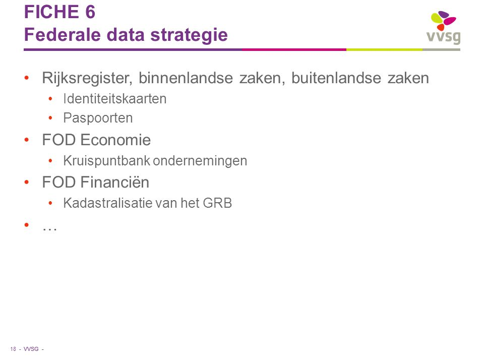 FICHE 6 Federale data strategie