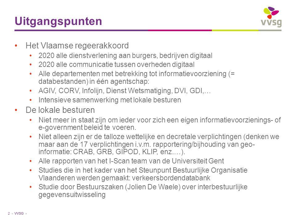 Uitgangspunten Het Vlaamse regeerakkoord De lokale besturen