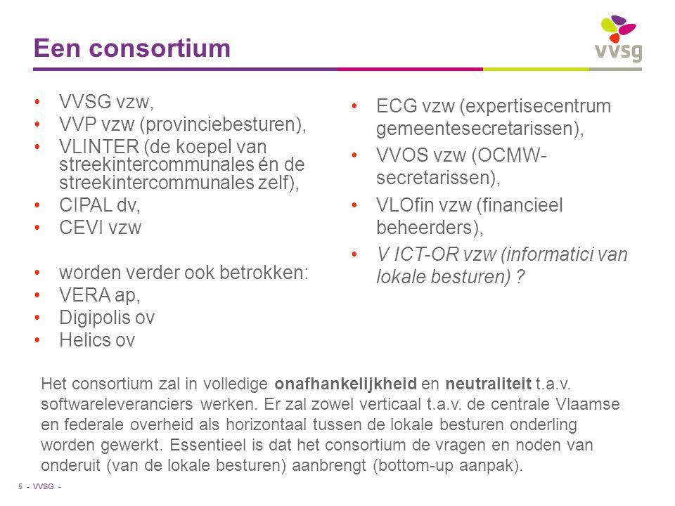 Een consortium VVSG vzw, VVP vzw (provinciebesturen),