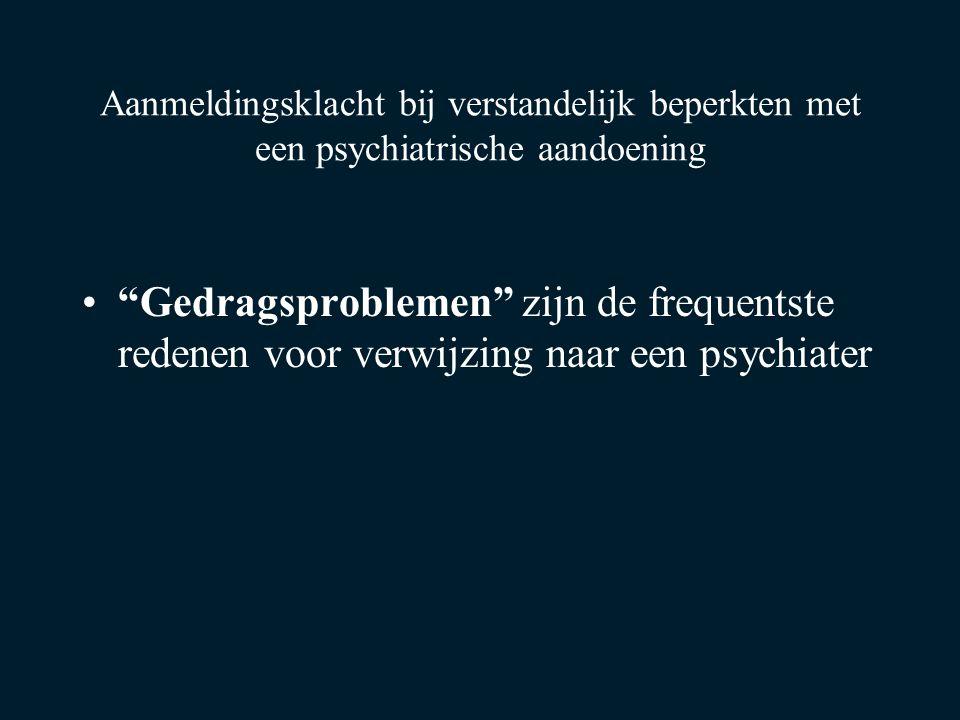 Aanmeldingsklacht bij verstandelijk beperkten met een psychiatrische aandoening