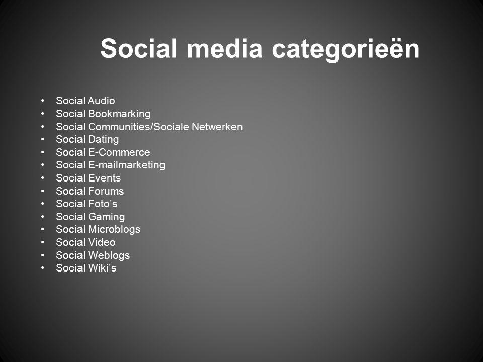 Social media categorieën
