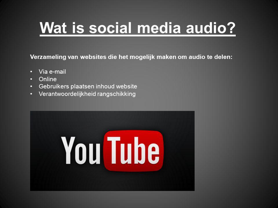 Wat is social media audio