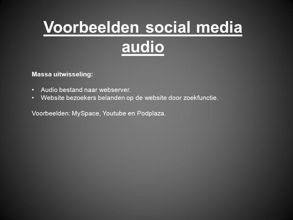 Voorbeelden social media