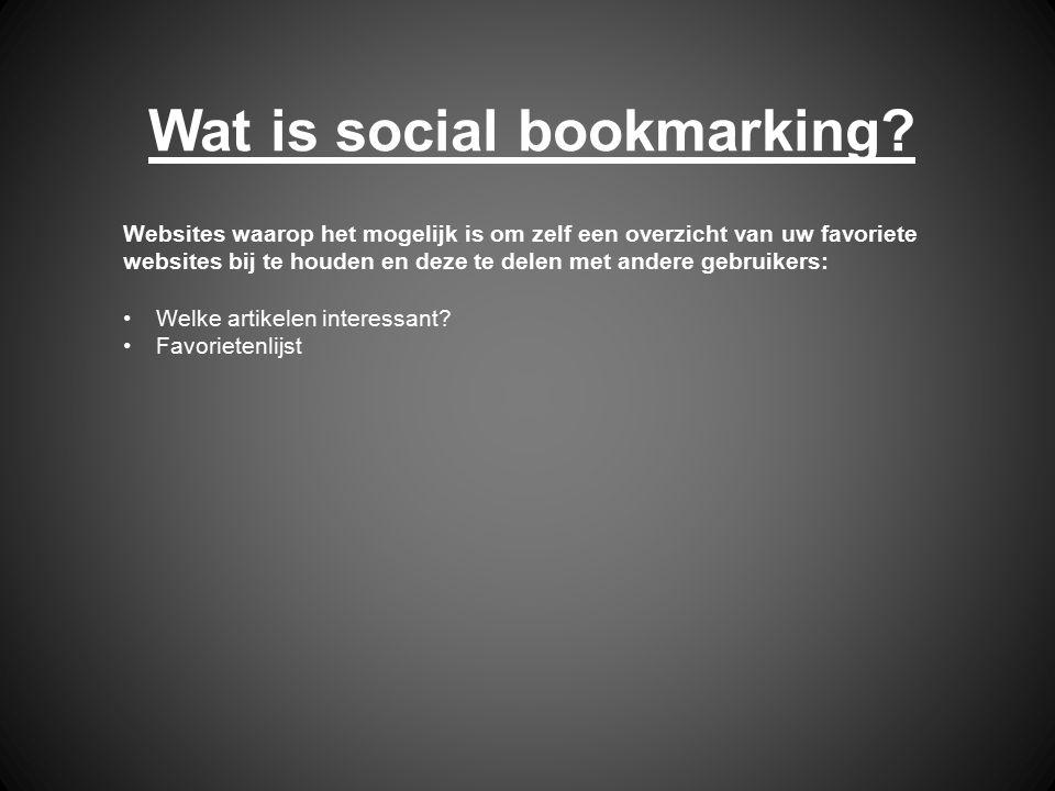 Wat is social bookmarking