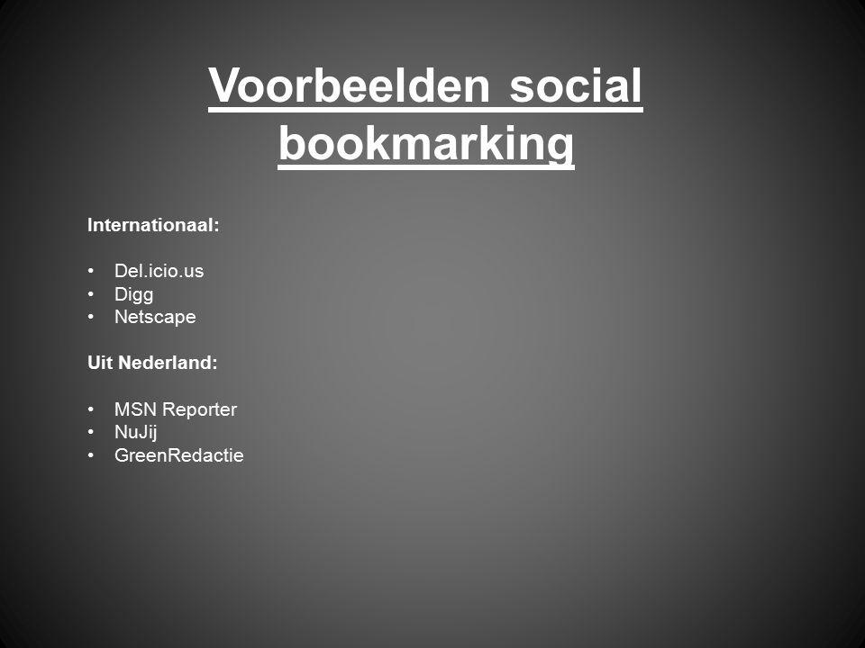 Voorbeelden social bookmarking