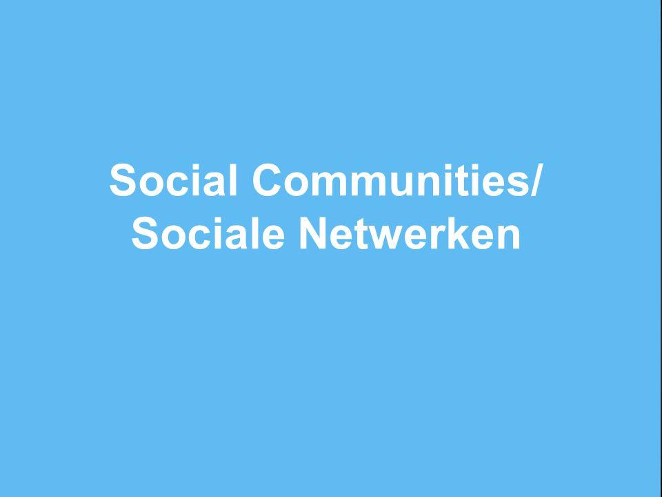 Social Communities/ Sociale Netwerken