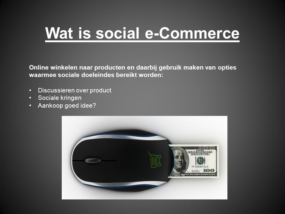 Wat is social e-Commerce