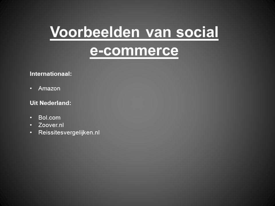 Voorbeelden van social e-commerce