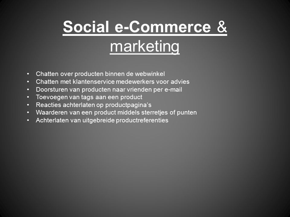 Social e-Commerce & marketing