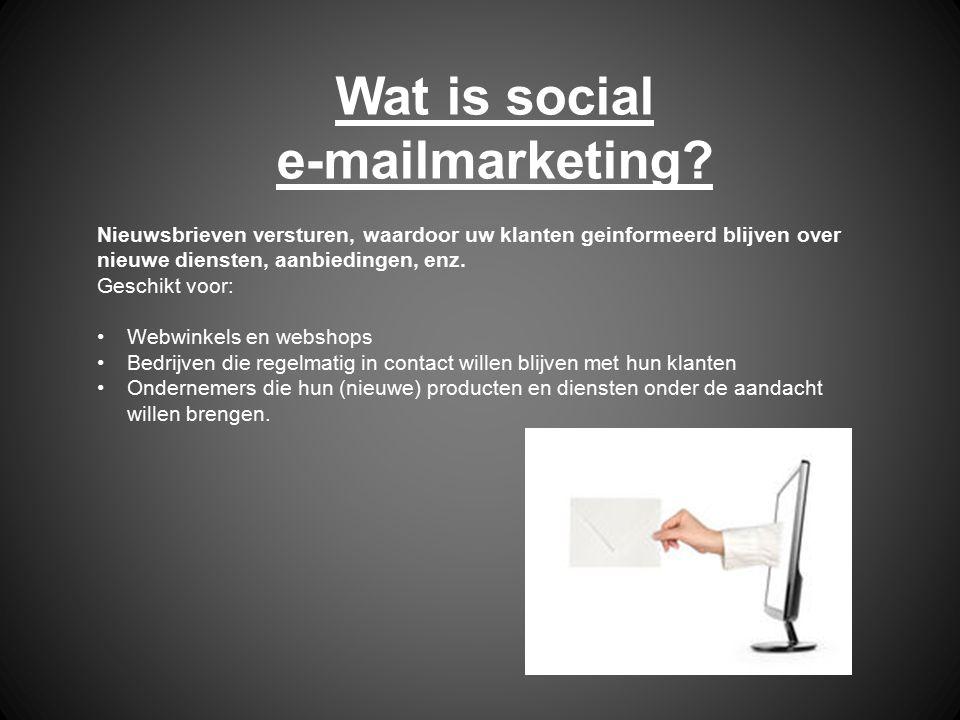 Wat is social e-mailmarketing