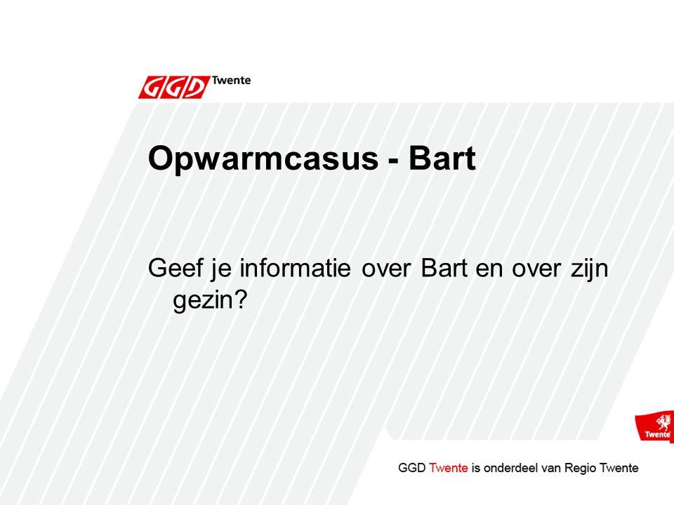 Opwarmcasus - Bart Geef je informatie over Bart en over zijn gezin