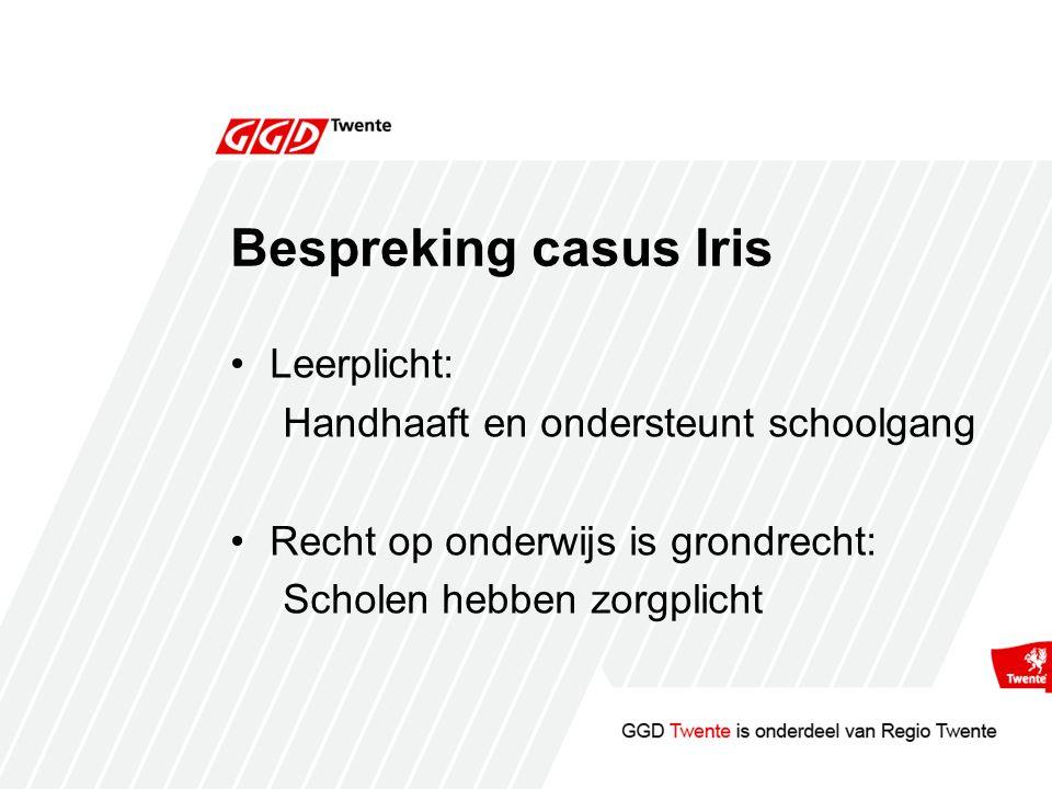 Bespreking casus Iris Leerplicht: Handhaaft en ondersteunt schoolgang