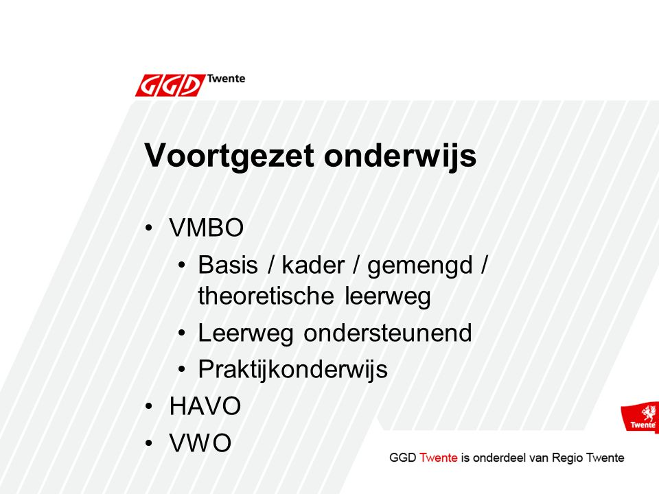 Voortgezet onderwijs VMBO
