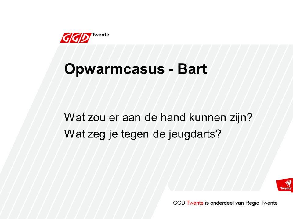 Opwarmcasus - Bart Wat zou er aan de hand kunnen zijn