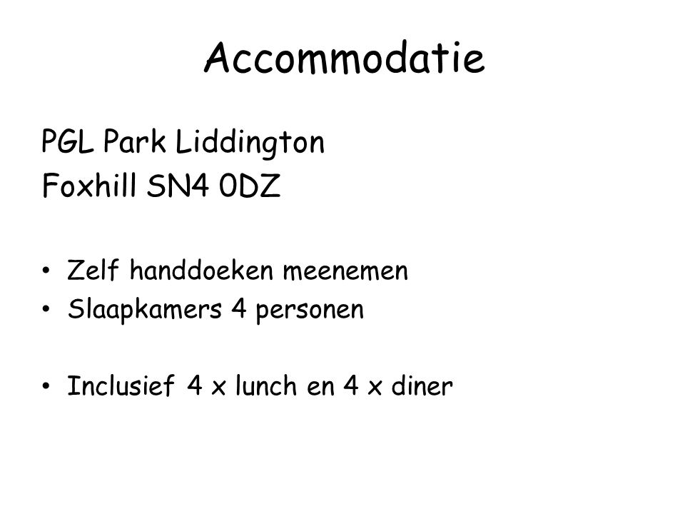 Accommodatie PGL Park Liddington Foxhill SN4 0DZ