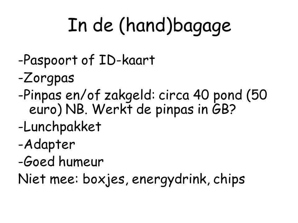 In de (hand)bagage
