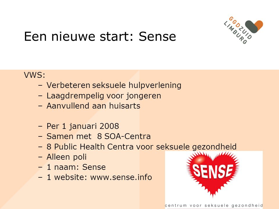 Een nieuwe start: Sense