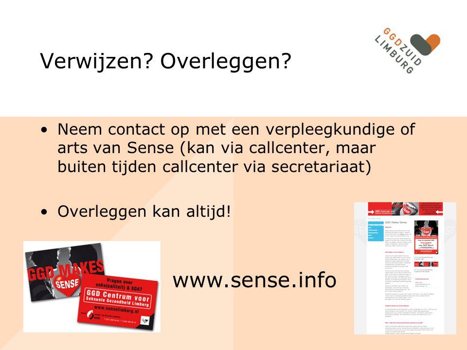 Verwijzen Overleggen www.sense.info