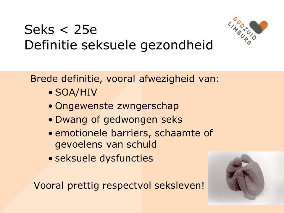 Seks < 25e Definitie seksuele gezondheid