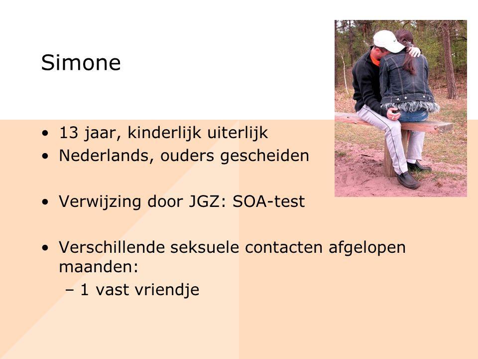 Simone 13 jaar, kinderlijk uiterlijk Nederlands, ouders gescheiden