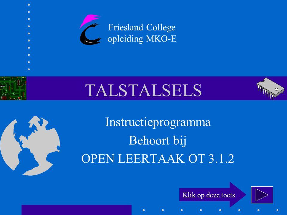 Instructieprogramma Behoort bij OPEN LEERTAAK OT 3.1.2