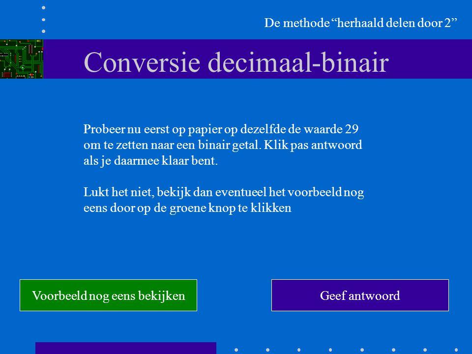 Conversie decimaal-binair