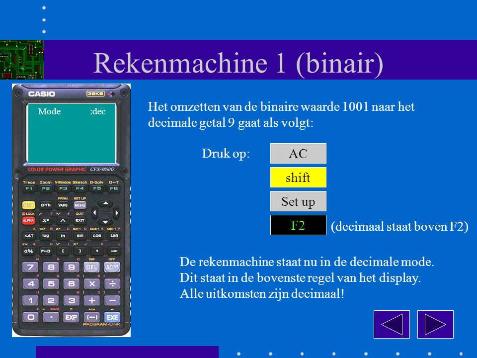 Rekenmachine 1 (binair)