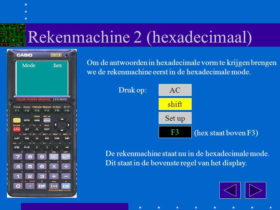 Rekenmachine 2 (hexadecimaal)