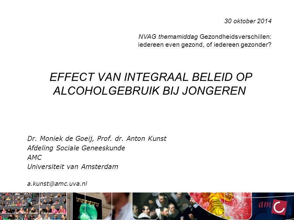 EFFECT VAN INTEGRAAL BELEID OP ALCOHOLGEBRUIK BIJ JONGEREN