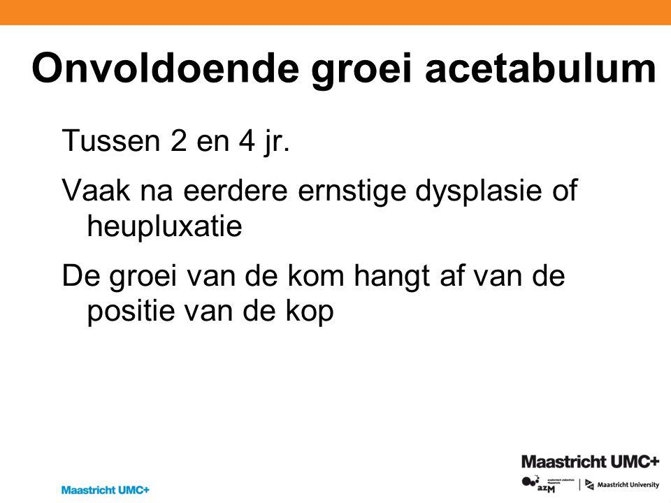 Onvoldoende groei acetabulum