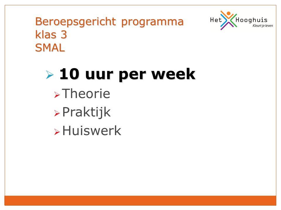 Beroepsgericht programma klas 3 SMAL