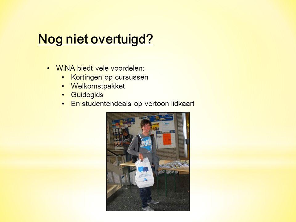 Nog niet overtuigd WiNA biedt vele voordelen: Kortingen op cursussen