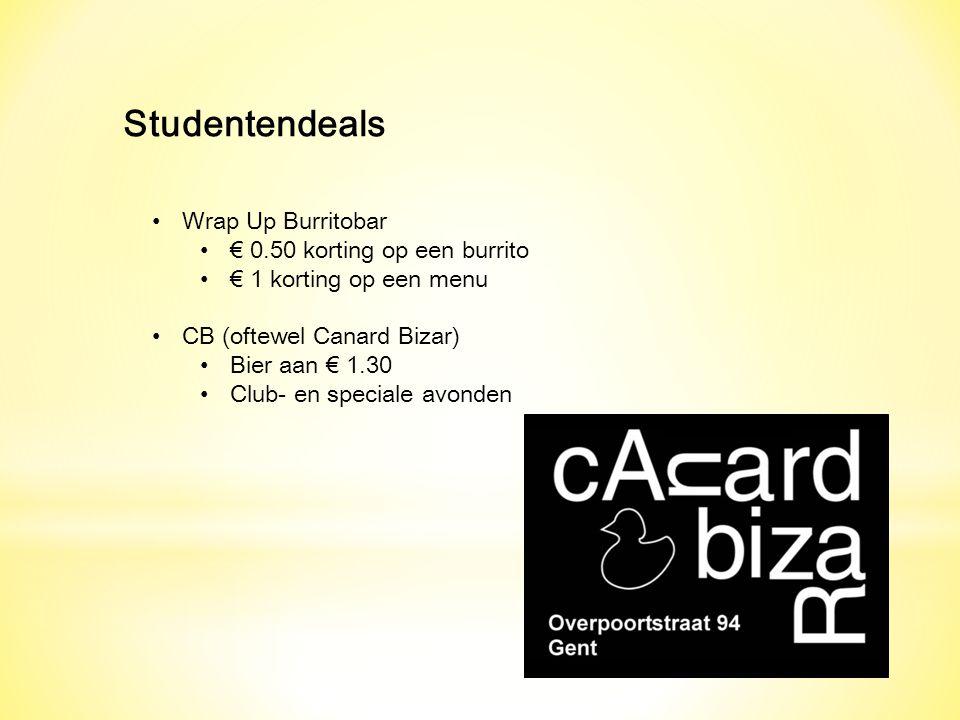 Studentendeals Wrap Up Burritobar € 0.50 korting op een burrito