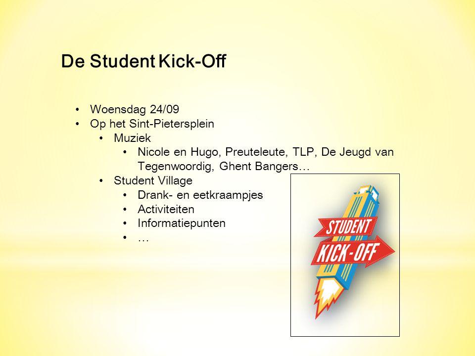 De Student Kick-Off Woensdag 24/09 Op het Sint-Pietersplein Muziek
