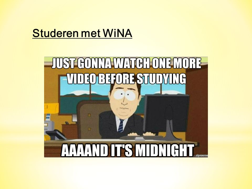Studeren met WiNA