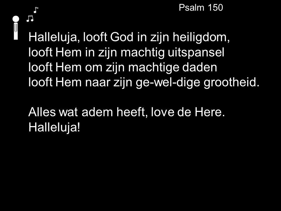 Halleluja, looft God in zijn heiligdom,