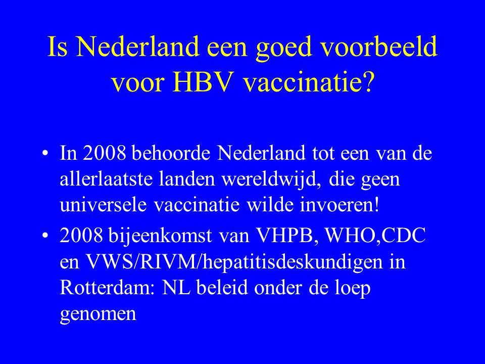 Is Nederland een goed voorbeeld voor HBV vaccinatie