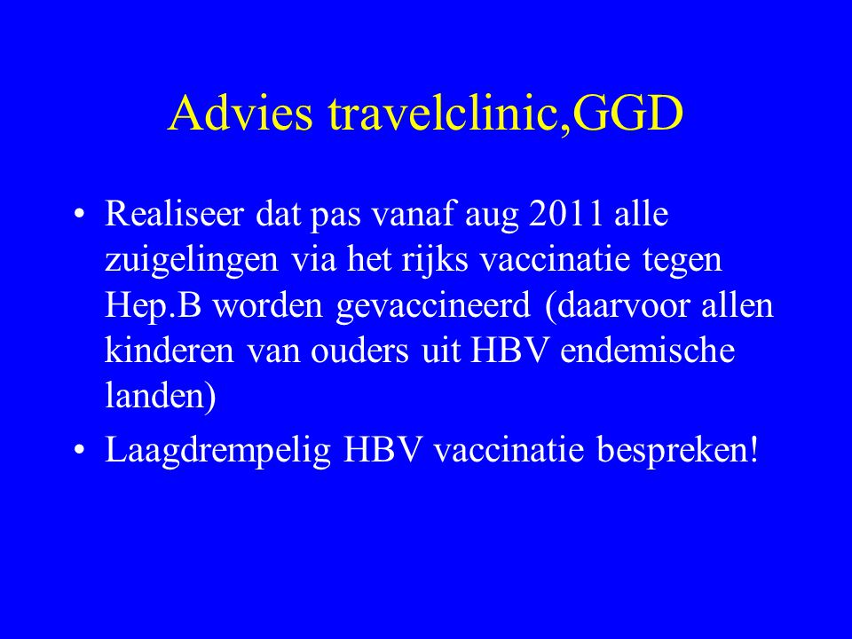 Advies travelclinic,GGD