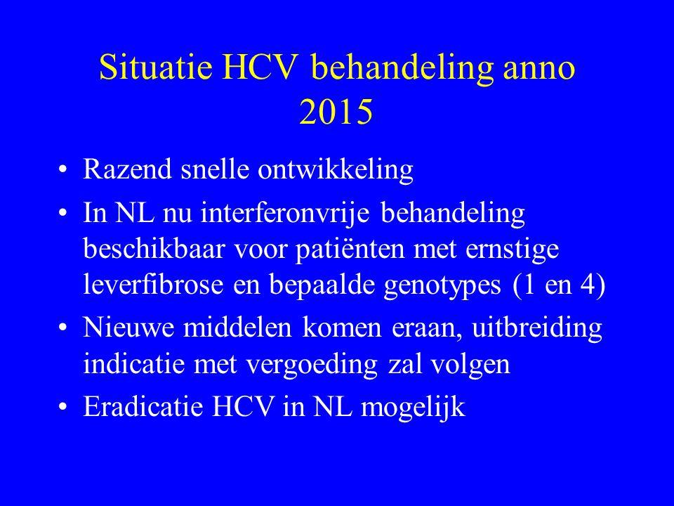 Situatie HCV behandeling anno 2015