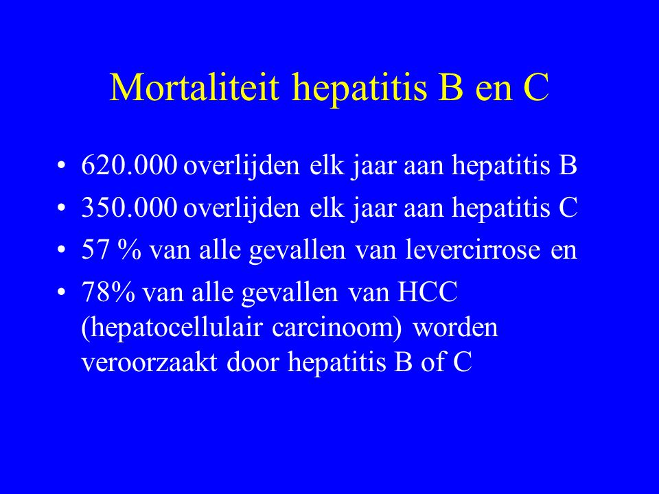 Mortaliteit hepatitis B en C