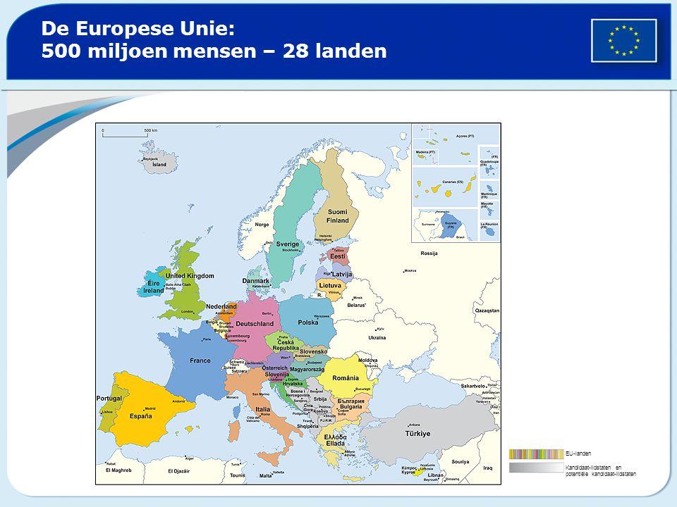 De Europese Unie: 500 miljoen mensen – 28 landen