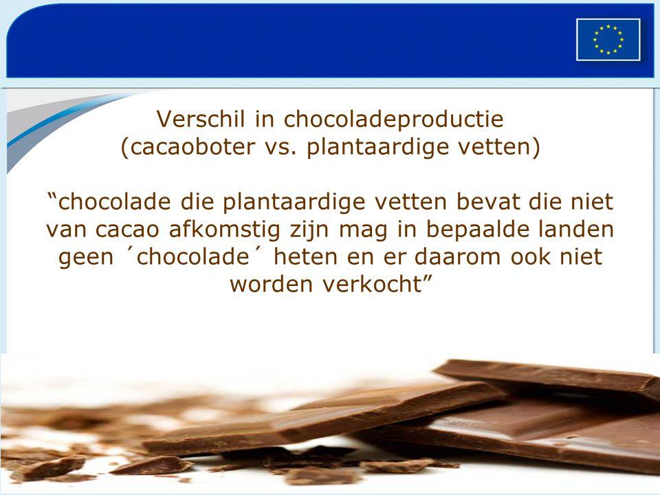 Verschil in chocoladeproductie (cacaoboter vs
