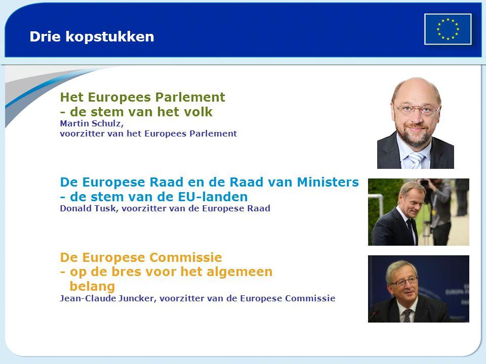 Drie kopstukken Het Europees Parlement - de stem van het volk Martin Schulz, voorzitter van het Europees Parlement.