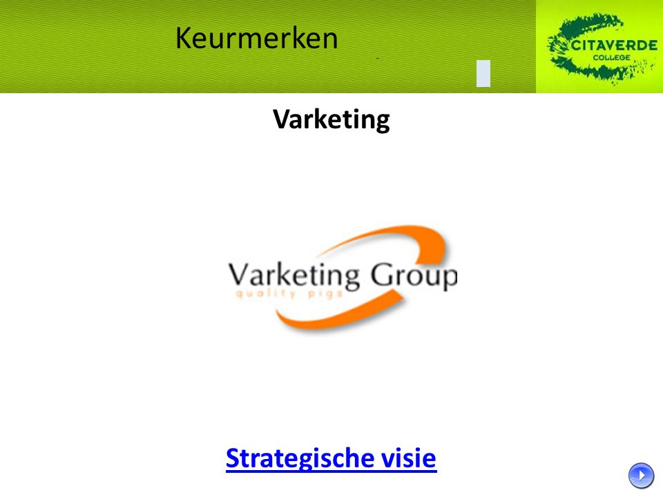 Varketing Strategische visie