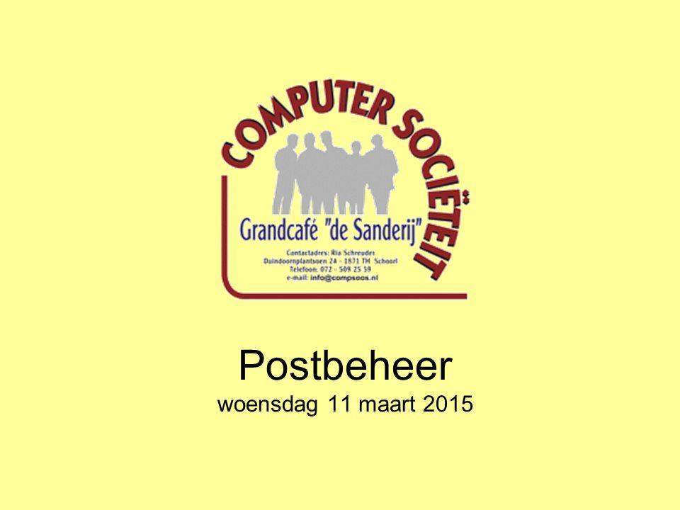 Postbeheer woensdag 11 maart 2015