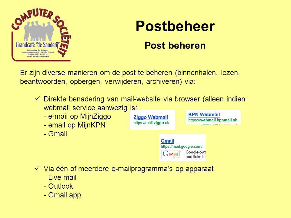 Postbeheer Post beheren