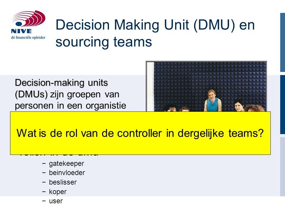 Decision Making Unit (DMU) en sourcing teams
