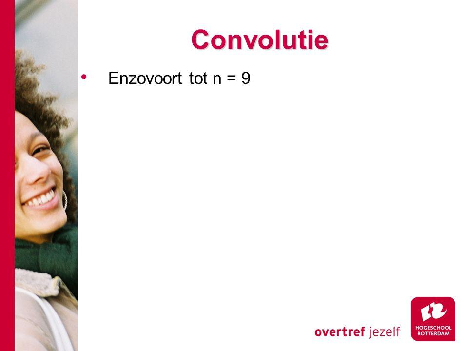Convolutie Enzovoort tot n = 9
